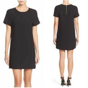 Felicity & Coco Black Crepe Shift Dress LBD XL